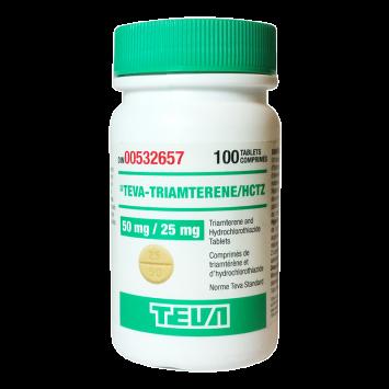 Triamterene 75mg/100tabs (diuretic) - Canadian Generic